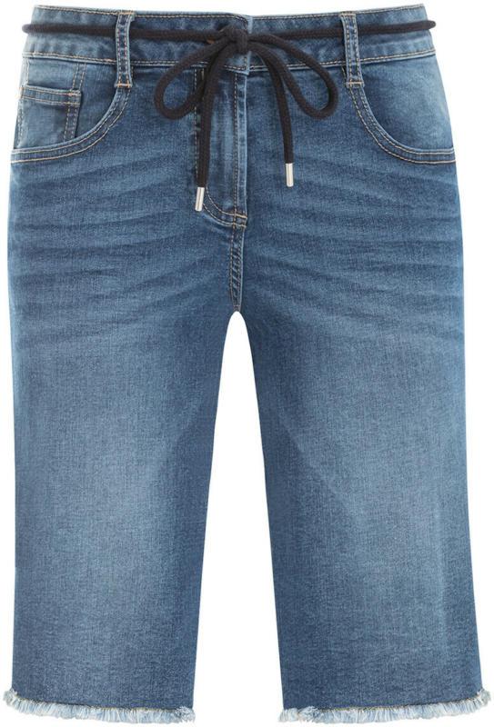 Damen Jeansshorts mit Used-Waschung (Nur online)