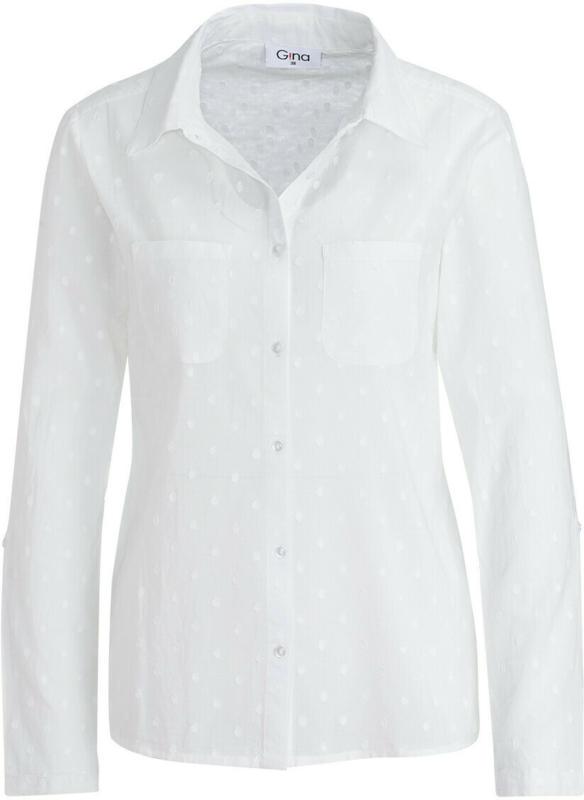 Damen Hemdbluse mit strukturierten Punkten (Nur online)