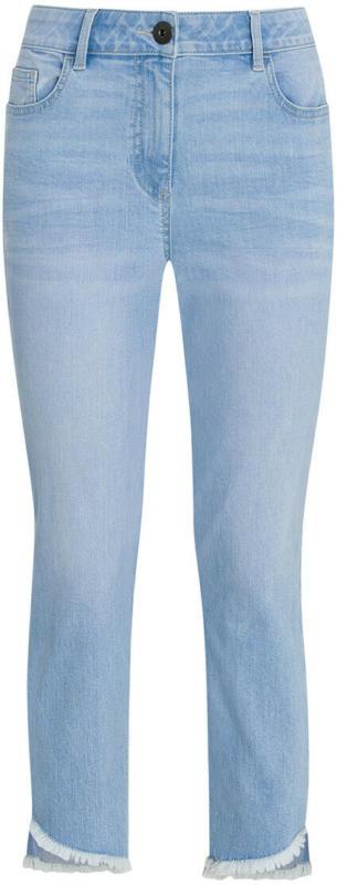 7/8 Damen Slim-Jeans mit Fransen (Nur online)