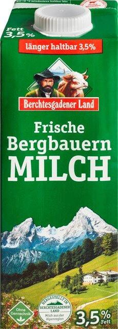 Berchtesgadener Land frische Bergbauern Milch