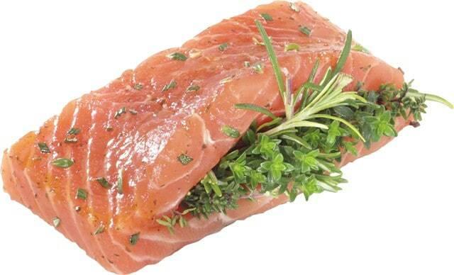 Ab Mittwoch erhältlich: Lachsfilets  Kräuterbouquet