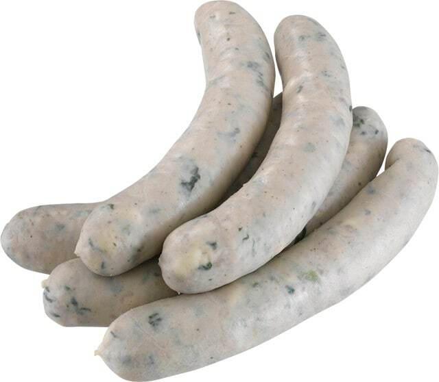 Spinat-Käse-Bratwurst