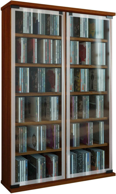 CD-Regal in Nussbaumfarbe 'Galerie B: 60 CM'