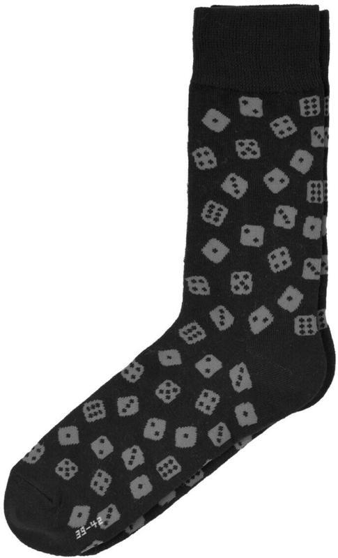 1 Paar Herren Socken mit Würfel-Motiv (Nur online)