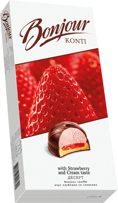 Schaumzuckerware (25,5%) mit Erdbeer-Sahnegeschmack