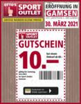 OTTO'S Sport Outlet GUTSCHEIN Sport Outlet Gamsen - bis 24.04.2021