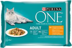 Purina ONE Zarte Stückchen in Sauce mit Huhn 4x85g