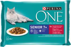 Purina ONE Senior mit Rind & Karotten 12x4x85g