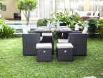 Conforama Set Gartentisch und Gartenstühle ZORA grau