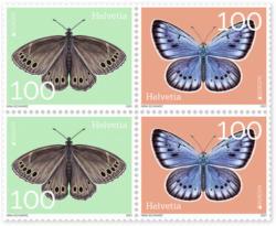 Briefmarken CHF 1.00 «EUROPA - Bedrohte Wildtiere», Viererblock