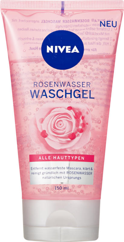 Nivea Waschgel Rosenwasser, 150 ml