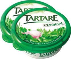 Fromage frais L'Original Tartare , Ail & Fines herbes, 2 x 150 g