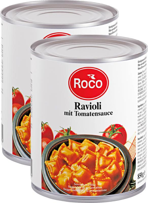 Ravioli Roco, pronti all'uso, 2 x 850 g