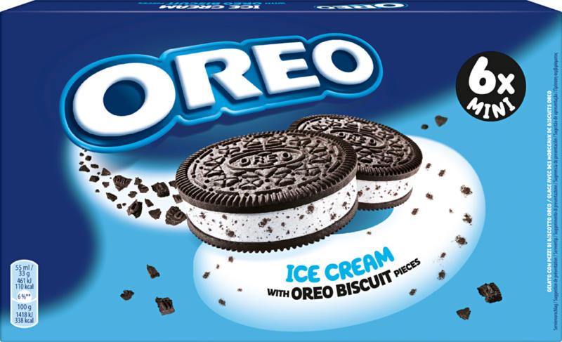 Oreo Ice Cream , Minisandwich, 6 x 55 ml