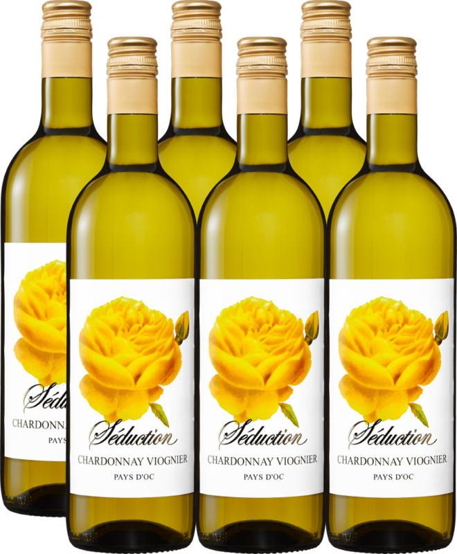 Séduction Chardonnay/Viognier Pays d'Oc IGP, 2012, Languedoc-Roussillon, Frankreich, 6 x 75 cl