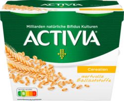 Danone Activia Joghurt Cerealien, probiotisch, 4 x 115 g