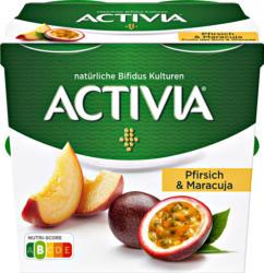 Yogourt Pêche & Fruit de la Passion Activia Danone, probiotique, 4 x 115 g