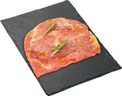 Butcher Steak BBQ Denner, Maiale, marinato, Svizzera, 500 g, per 100 g