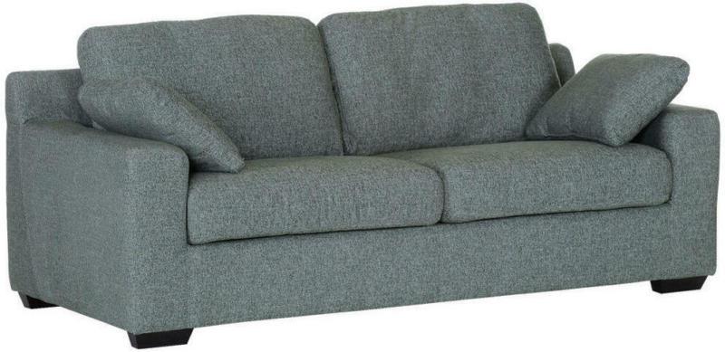 Zweisitzer-Sofa in Holz, Textil Grün