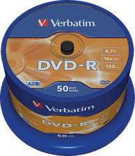VERBATIM DVD-R Matt Silver - DVD-R