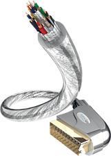 INAKUSTIK 42201 Premium Scart - Scart Kabel (Transparent)