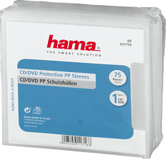 HAMA 00011716 - CD-/DVD-Schutzhülle (Transparent/Blau)