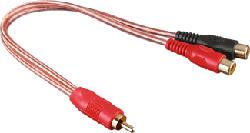 HAMA 43638 RCA Y M/2XF - Cinch-Adapter (Transparent)