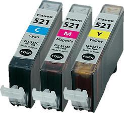 CANON CLI-521 Multipack - Cartuccia di inchiostro (Multicolore)