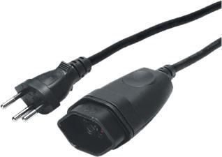 STEFFEN Rallonge Td - Câble de rallonge (Noir)