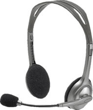 LOGITECH H110 - Cuffie con microfono (Wired, Binaurale, On-ear, Nero/Argento)