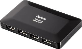 HAMA USB-2.0-Hub - Cavo USB / adattatore (Nero)