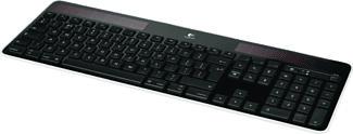 LOGITECH Wireless Solar Keyboard K750 noir - Clavier sans fil (Noir)