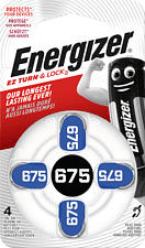 ENERGIZER Batteria-675 per Apparecchi Acustici -