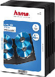 MediaMarkt HAMA DVD Quad Box, nero (pacchetto di 5 ) - Custodia vuota da DVD (Nero)
