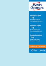 ZWECKFORM 2929-100 A4 120G/M2 100S CLORED -  (flieder, hellblau, mint, rosé, zitrone)
