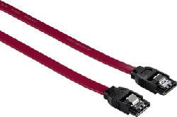 HAMA Cavo di trasferimento dati interno SATA III, 45 cm, rosso - Cavo dati (Rosso)