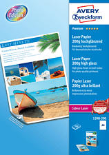 ZWECKFORM Superior Colour Laser Paper, DIN A4, 200 g/m², 200 fogli -  (Bianco)