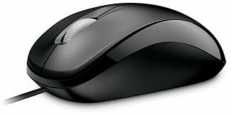 MICROSOFT Compact Optical Mouse 500 - Maus (Schwarz)