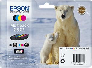 EPSON T263640 MULTIPACK HY CMYBK - Tintenpatrone (Schwarz, gelb, cyan, magenta)