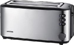 SEVERIN AT 2509 - Toaster (Edelstahl gebürstet/Schwarz)