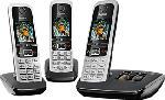MediaMarkt GIGASET C430A Trio - Telefono cordless (Nero/Argento)