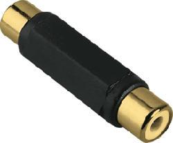 HAMA Adaptateur audio, RCA femelle - RCA femelle - Adaptateur (Noir)