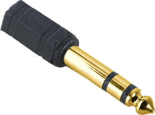 HAMA ADAPTER AUX6/AUX3 M/F - Adaptateur (Noir)