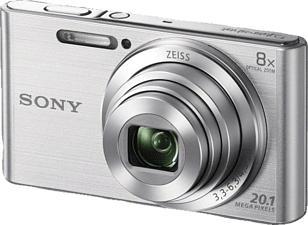 SONY Cyber-shot DSC-W830S - Kompaktkamera (Fotoauflösung: 20.1 MP) Silber
