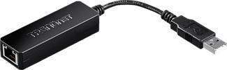 TRENDNET TU2-ET100 - Adapter USB 2.0 zu Fast Ethernet (Schwarz)