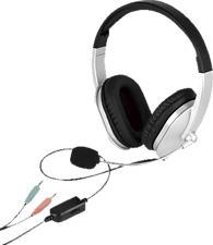 ISY IHS-1001 - Cuffie con microfono (Wired, Binaurale, On-ear, Nero/grigio)