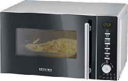 SEVERIN MW 7865 BLACK/SILVER - Micro-ondes avec fonctions Grillade & Air Chaud