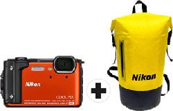 NIKON Coolpix W300 Holiday Kit - Fotocamera compatta (Risoluzione efficace della foto: 16 MP) Arancione