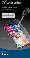 CELLULAR LINE SECOND GLASS ULTRA - Displayschutz (Passend für Modell: Apple iPhone X)