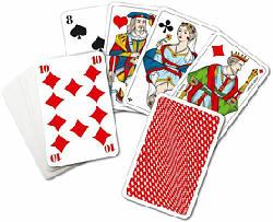 CARTA MEDIA Piquetkarten (Französisch) mit extra grossen Eckzeichen - Kartenspiel